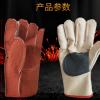 劳工帆布手套劳保电焊工地工业工作耐磨加厚防护纯棉双层帆布手套
