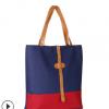 手提袋 厂家直销拼接上班休闲逛街购物袋 加工定制百搭帆布储物袋