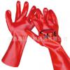 厂家直销PVC手套耐油耐酸碱手套吸湿透气棉毛布内里全浸平囗光面