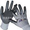 PU手套 13针尼龙内里灰色优质耐磨PU浸胶手套 厂家直销