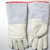 安百利36cm耐低温液氮手套LNG手套防冻干冰手套牛皮冷库