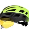 骑行头盔眼镜一体成型磁吸风镜山地公路自行车安全头盔帽装备J662