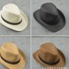 纯色小礼帽爵士帽太阳帽男士英伦遮阳帽舞台表演西部牛仔帽批发