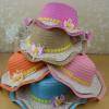 韩版波浪大沿小孩花朵草帽儿童帽防晒遮阳帽出游沙滩凉帽子潮夏