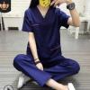 韩版洗手衣涤棉手术衣口腔医生分体套装牙科工作服刷手服美容服