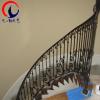 专业定做 欧式豪华铁艺楼梯扶手配件 室内弯花楼梯扶手围栏 定制