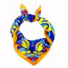女士真丝小方巾企业高品质LOGO礼品丝巾定制100%桑蚕丝印花围巾