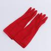 批发清洁家务手套厨房洗碗洗衣服防水橡胶手套加长红玫瑰乳胶手套