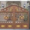 专业销售 防古铁艺庭院门 折叠庭院门 别墅庭院门