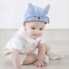 韩版儿童帽子 cocoinkids品牌帽子 兔子长耳朵款条纹儿童鸭舌帽