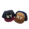 外贸儿童帽子 cocoinkids品牌 NY字母款尼料护耳鸭舌帽
