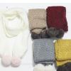 儿童精品围巾 cocoinkids品牌 五色兔毛球款围巾