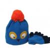 儿童精品帽子 cocoinkids品牌 卡通猫头鹰款针织帽两件套
