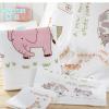 Covator隽优纯棉双层纱布动物乐园面巾儿童大毛巾洗脸巾2