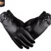 冬季手套男士触屏皮手套仿真皮水洗皮PU加绒保暖骑行手套开车皮革