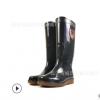 厂家直销海鸠牌男高筒双色盐滩靴劳保矿靴雨鞋三防耐酸碱油平跟水