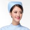 厂家直销批发护士帽 定制涤棉薄款厚款白色粉色蓝色护士工作帽子