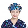 全棉印花手术帽蓬蓬帽女式护士帽美容帽月子帽纯棉防护包头帽批发