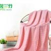 厂家批发竹纤维浴巾 商务礼品成人加厚厂家批发波浪纹大浴巾