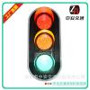 深圳中安交通专业生产LED交通信号灯花纹双透镜交通信号灯