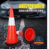 厂家直销塑料橡胶路锥塑料红路锥橡胶底座塑料路标雪糕桶路障锥