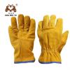 黄色皮全掌牛皮电焊手套 10.5寸短电焊手套 隔热防烫劳保手套