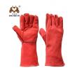 耐高温隔热焊工手套 来样加工14寸双层牛皮防烫电焊劳保手套定制