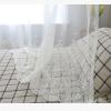 高档绣花窗纱羽毛纱苏绣纱白色纱刺绣 客厅卧室落地窗帘厂家直销