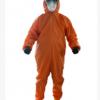 厂家直销轻型连体防化服 重复使用简易橘色防护服批发现货