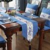 新中式餐桌茶旗棉麻风格茶席禅意桌布古典纯色简约长条布