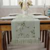 棉乐 田园桌旗电视柜桌布美式床尾巾棉麻茶几布艺一件代发