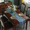 新中式餐桌旗禅意茶席长条桌布现代轻奢床尾巾中国风布艺茶几台布