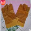 现货批发短款电焊黄布黄皮驳掌手套防护焊工耐热耐温耐磨劳保手套