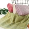厂家直销想竹纤维素色断档吸水毛巾礼品定制logo商超赠品批发