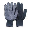 厂家直销13针黑色涤纶PVC点珠手套 尼龙点胶点塑劳保手套