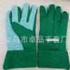 厂家直销9.5寸绿色点珠花园手套 PVC环保点胶园林手套