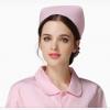 定制棉涤收紧腰药店工作服医生护士长袖白大褂 蓝色护士服护士帽