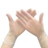 一次性PVC手套 无粉透明餐饮劳保 防护手套100只