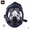 防毒面具化工喷漆防甲醛活性炭口罩劳保防疫消防球形大视野全面罩