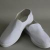 pvc底白色帆布防静电无尘洁净防尘鞋