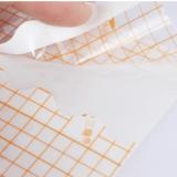 品质选材橙色网格高透PU医疗胶带100m一卷敷药固定防水防渗漏