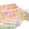 纯棉方巾彩格纱布小毛巾婴幼儿童纱布口水巾幼儿园手帕毛巾批发