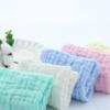 六层纯棉方巾泡泡棉口水巾褶皱纱布擦手巾婴幼儿童6层印花小毛巾