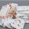 纯棉高密小方巾6层褶皱手帕婴儿小毛巾六层纱布口水巾印花擦手巾