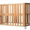 月亮船榉木婴儿床实木可拼接大床移动新生儿多功能童床无漆防吐奶