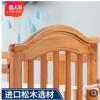 月亮船多功能婴儿床欧式带滚轮宝宝床儿童床实木游戏床一件代发