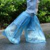 A461高筒一次性鞋套 加厚塑料男女士防雨鞋套 防滑雨天防水鞋套