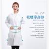 白大褂 女款修身长短袖药店医用食品工作服实验室医生护士服定制