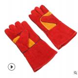 厂家直销 电焊手套 牛皮挂里焊工手套 耐磨加长加厚 劳保手套批发
