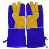 供应A级牛皮防烫焊接电焊防护手套二层皮双层防切割劳保手套加厚